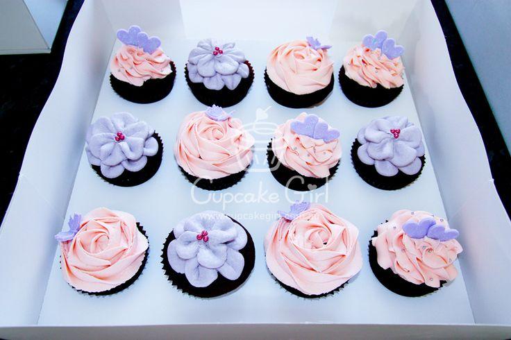 Pink & Purple Cupcakes