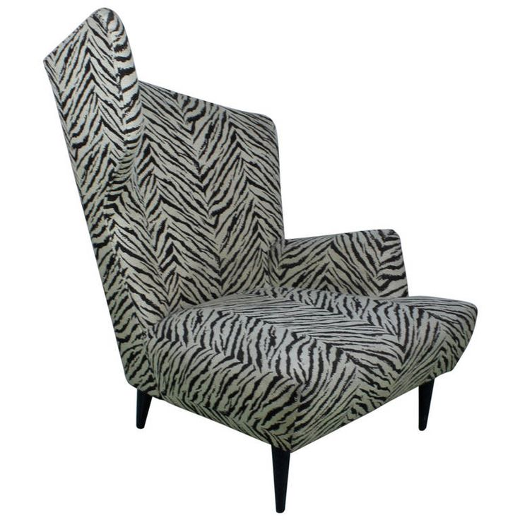 Splendid and Unique Sculptural Zebra Lounge Chair   From a unique collection of antique and modern lounge chairs at https://www.1stdibs.com/furniture/seating/lounge-chairs/ #zebra #funky #armchair
