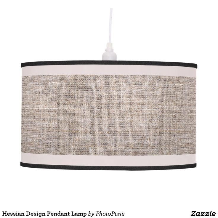 Hessian Design Pendant Lamp