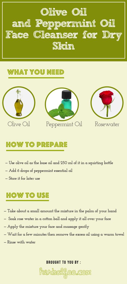 Olive oil and peppermint cleanser