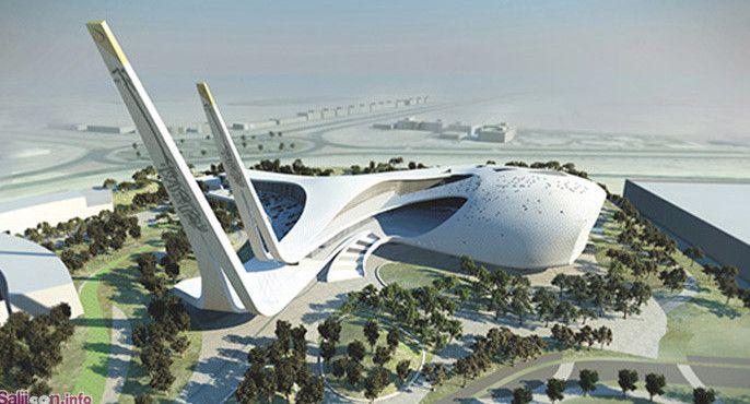 Modern mosque in Qatar