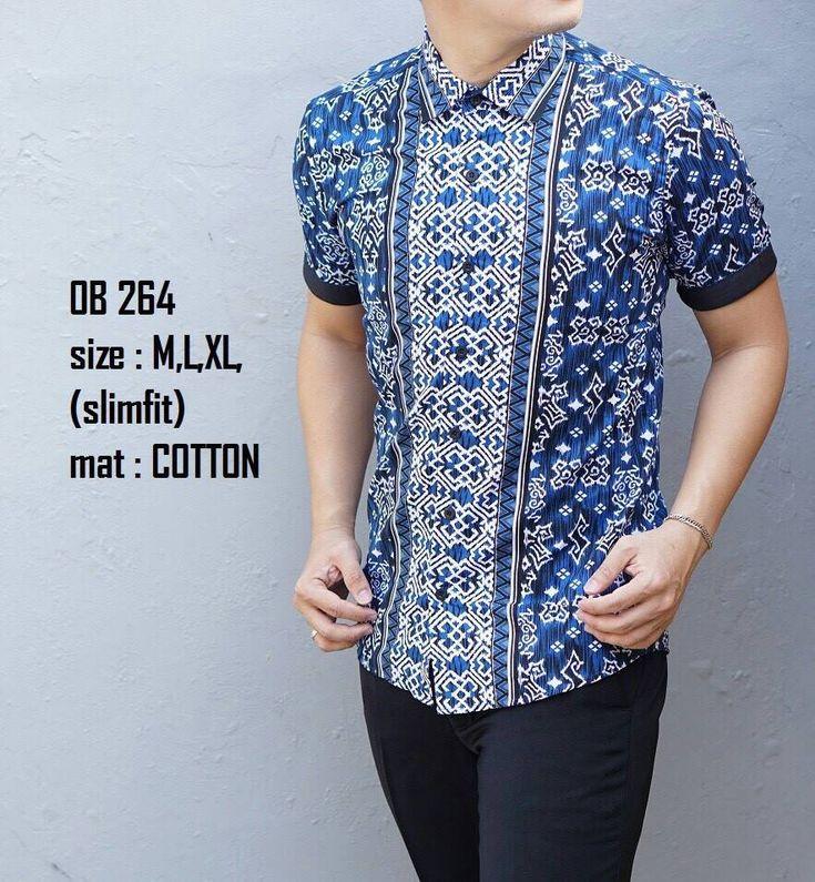 Baju Batik Pria Lengan Pendek | Model Baju pria terbaru