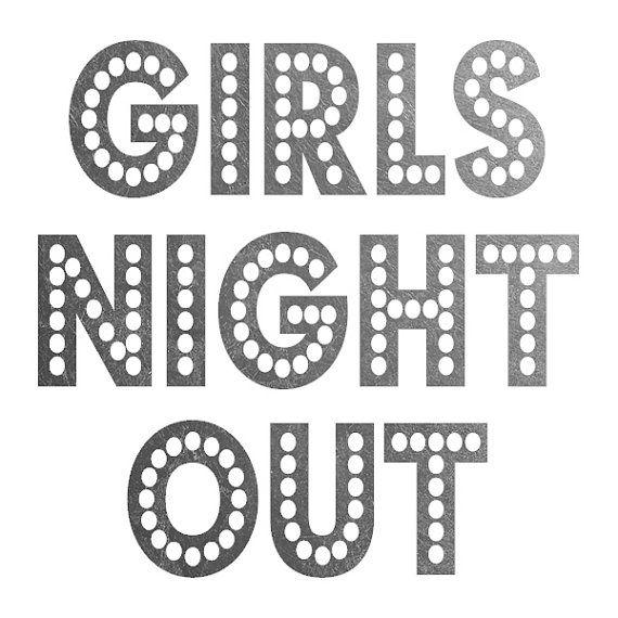 "Set de 8 ""GIRLS NIGHT OUT"" tatuaje temporal de la lámina de plata metálica"
