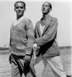 Salvador Dalí y Federico García Lorca en Cadaqués en 1925.