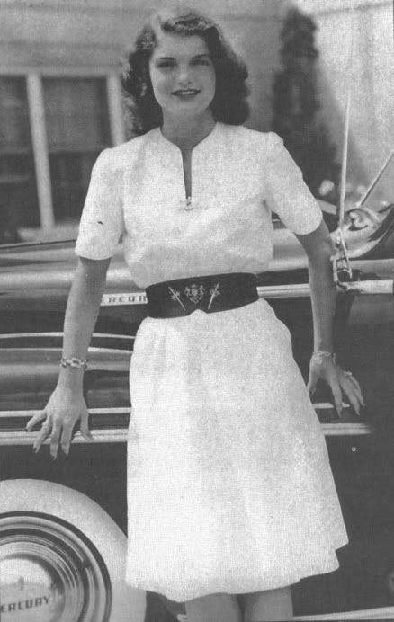 Jacqueline Bouvier (eventually Jackie Kennedy) at 19 in 1947.