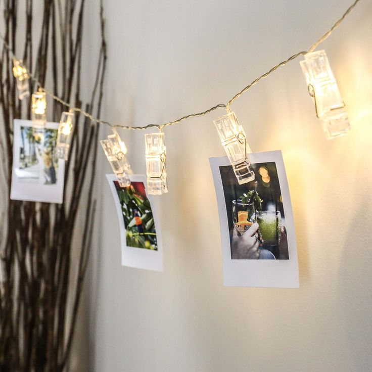 Picture this! This charming string of lights features 10 clip peg decorations, running along a transparent cable, illuminating your photographs and memories and making the ideal nostalgic feature. Each of the pegs houses a warm white LED, which emanates a soft glow, casting a beautiful light in the surrounding area, whilst perfectly highlighting whatever you... Read more »