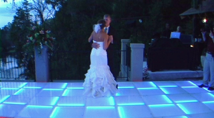 Subtle White LED Dance Floor. Maui's Only LED Dance Floor.