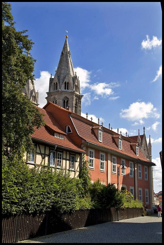 Mühlhausen in Thuringia, a free imperial city and the place where Thomas Müntzer started the Peasants' War. He was also beheaded there