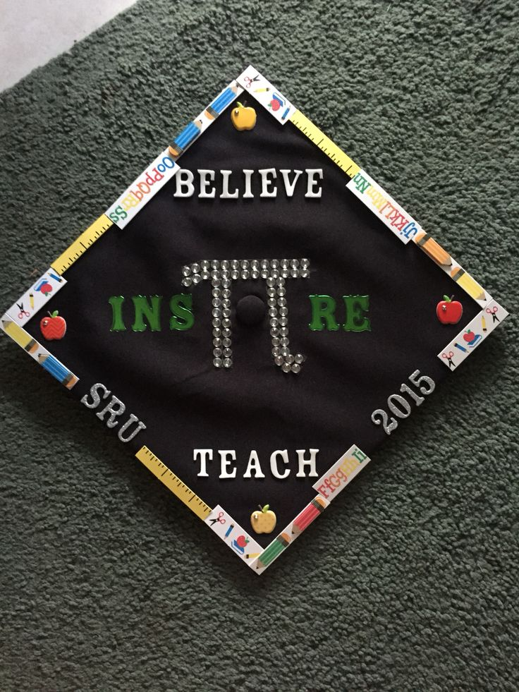 Math teacher graduation cap