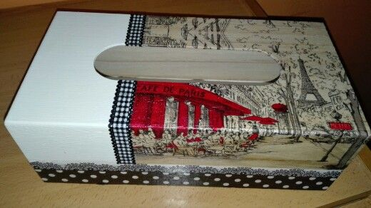 Caja para pañuelos París
