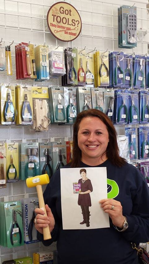 Flat Cathy and Doris getting hammered! Bead Bistro, Gourmet Beadery, TX