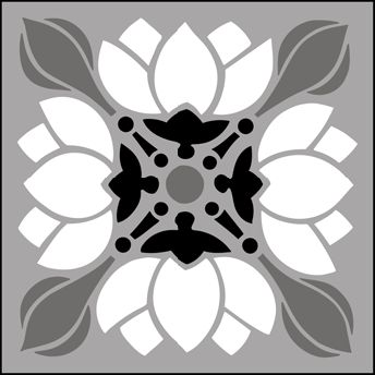 Persian stencil | Arts and Crafts Tile No 1 stencils, stensils and stencles
