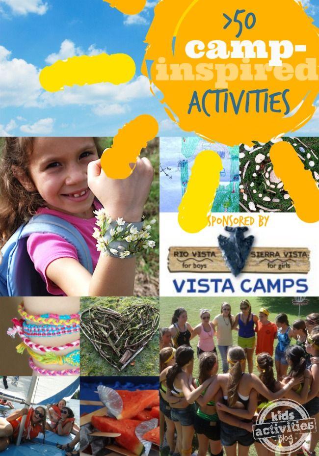 50 Camp-inspired Activities on Kids Activities Blog