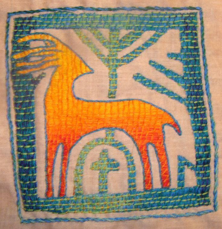 Jelonek - haft chorągiewny