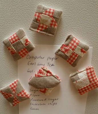 Amy Made That! ...by eamylove: Zakka Style Itty Bitty Quilt Block Magnets