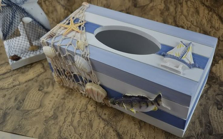 11 best images about tissue boxen on pinterest starfish cover up and sea shells - Beach themed tissue box cover ...