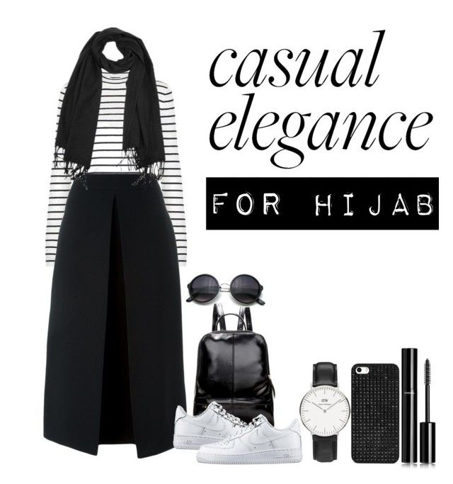 """""""#hijab"""" by rabiasemx on Polyvore featuring Daniel Wellington, McQ by Alexander McQueen, NIKE, BaubleBar, Chanel, women's clothing, women's fashion, women, female and woman"""