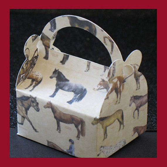 horse party favor box  horse supplies pony favor by tinygiftboxes, $1.35