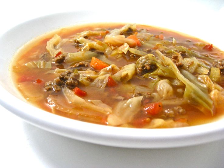 Super Skinny Sweet And Sour Cabbage Soup