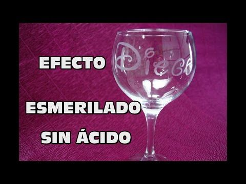 DIY Efecto esmerilado sin ácido ni herramientas | Manualidades