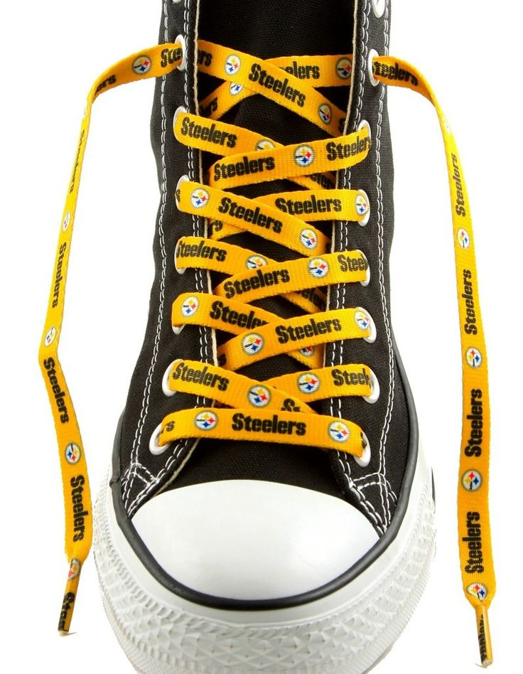 "Pittsburgh Steelers Shoe Laces - 54"" Gold"