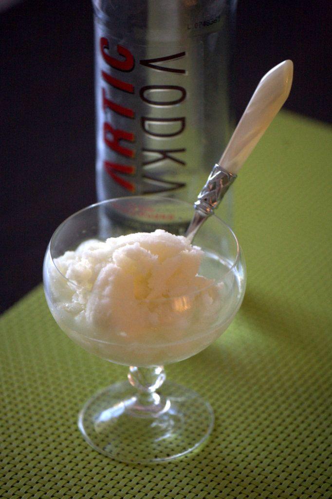 Sorbetto al lime, zenzero e...vodka