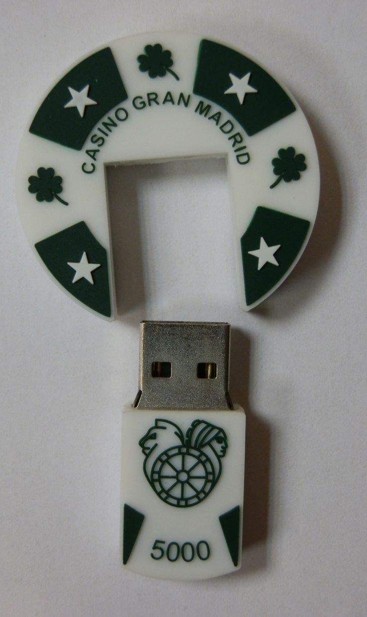 MEMORIA USB FORMA FICHA DE CASINO