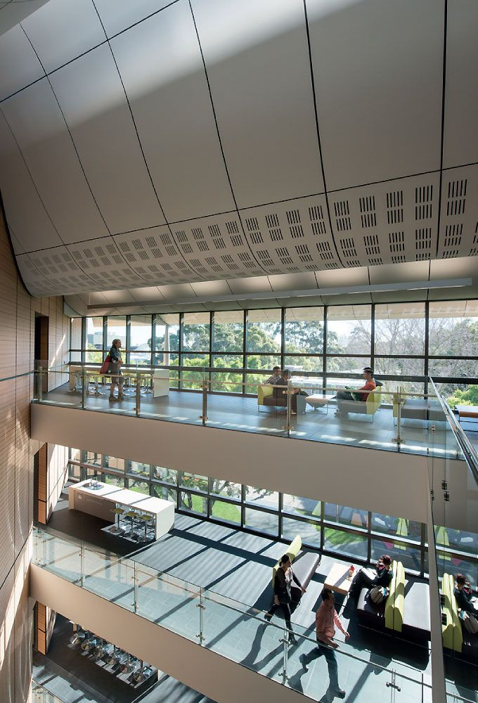 Entry atrium and social hubs, Tyree Building, UNSW Australia