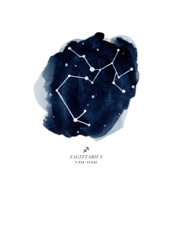 Zodiac Constellation - Sagittarius Art Print