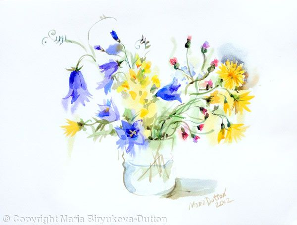 Bouquet+2+-+Watercolours+on+paper