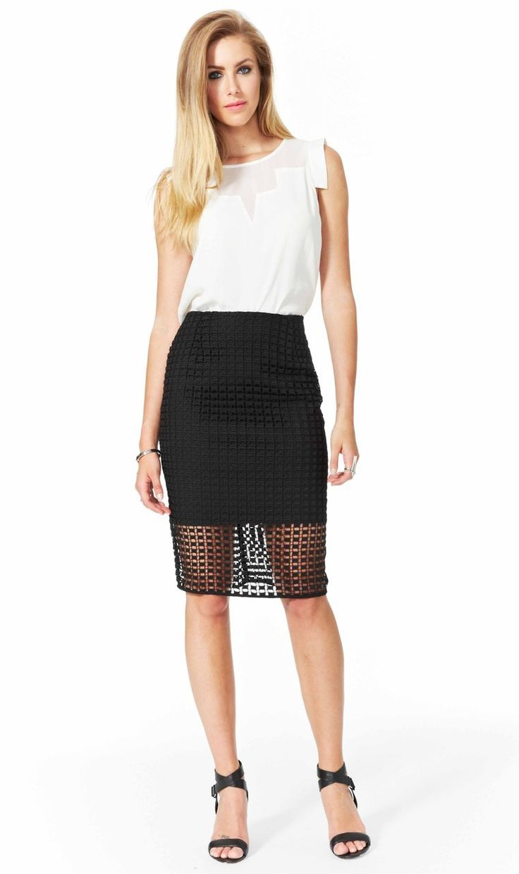 AlibiOnline - Optic Fusion Skirt by COOPER ST, $129.95 (http://www.alibionline.com.au/optic-fusion-skirt-by-cooper-st/)