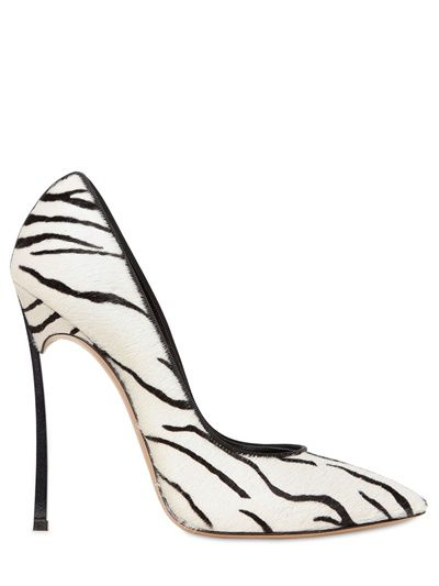 CASADEI - 120MM ZEBRA PRINTED PONYSKIN PUMPS - LUISAVIAROMA - LUXURY SHOPPING WORLDWIDE SHIPPING - FLORENCE