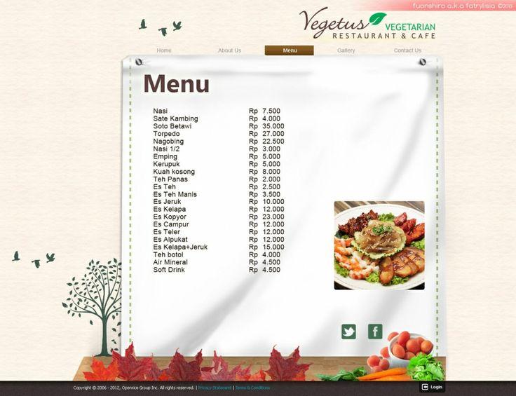 Web Design | Vegetus Restaurant