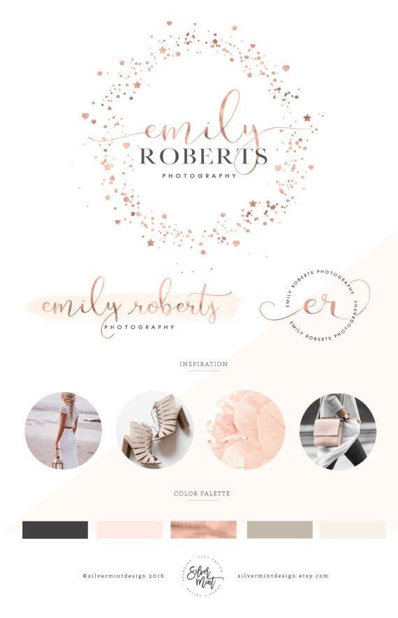 #graphic #design #premadelogo #logo design #logo design #inspiration #logo design #ideas #logo design branding #logo design inspiration branding #branding #package #business logo design #branding package design #branding #custom logo #photography logo design #etsy  #Watercolor Logo Design, #Rose #gold  #feminine logo, #script logo, #handwritten logo