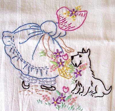 Vintage Embroidery el perrito