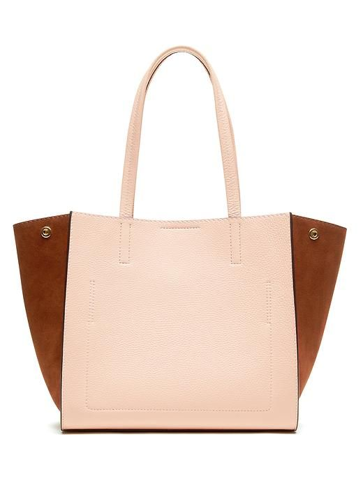 Banana republic red leather tote