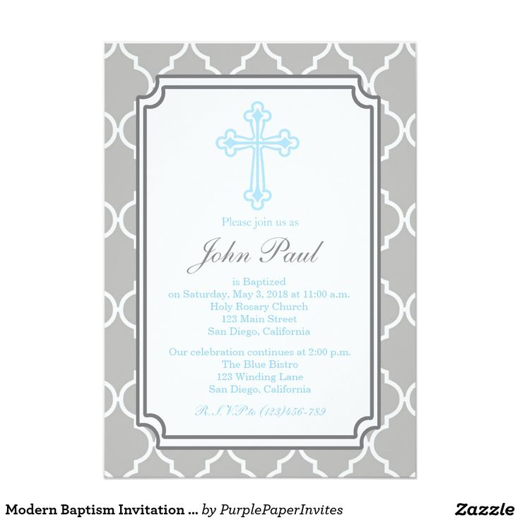 77 best christeningbaptism invitations images on pinterest modern baptism invitation quatrefoil for boys stopboris Image collections