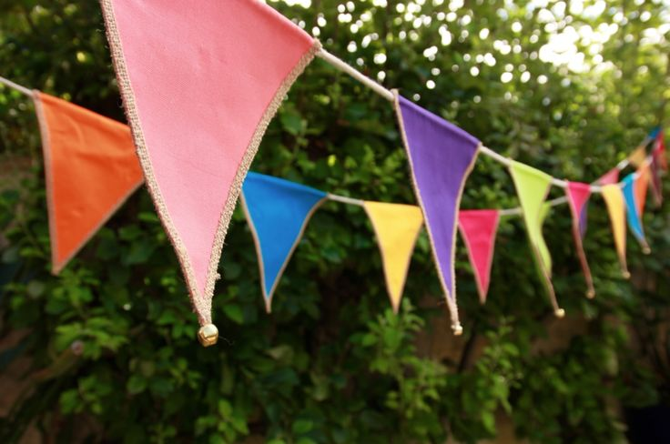 Colourful party bunting for hire. Every time the bells ring, you have to kiss.