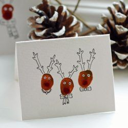 20 Homemade Christmas Cards Made by the Kids | Hands On As We Grow