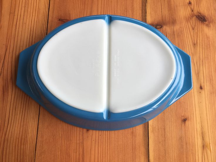 A personal favourite from my Etsy shop https://www.etsy.com/au/listing/510526915/vintage-blue-divided-pyrex-cinderella
