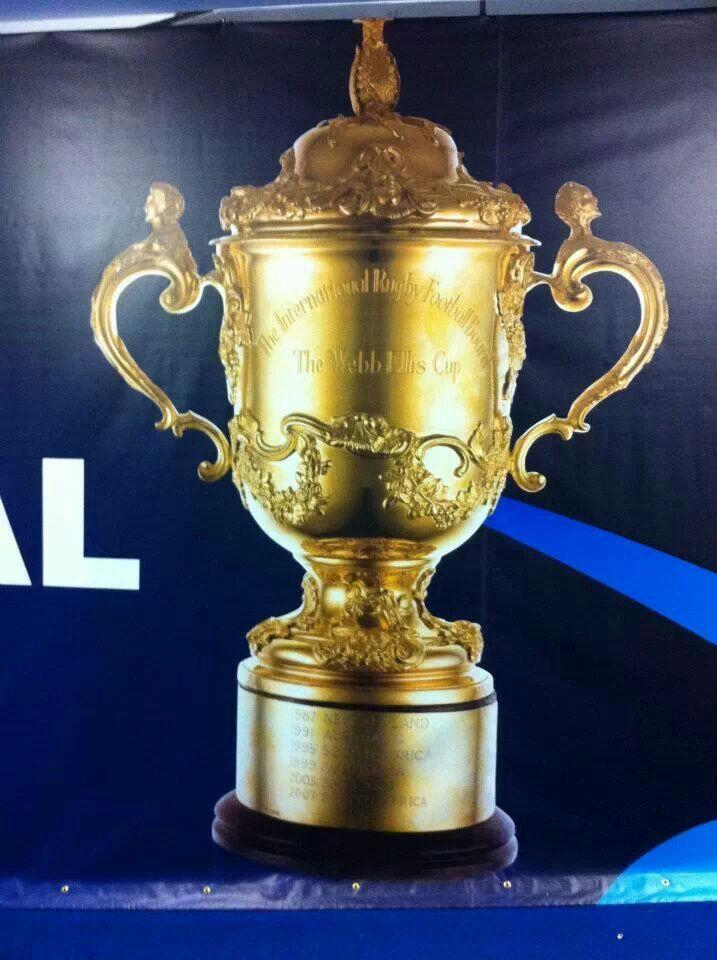 The Webb Ellis Cup 2011 winners All Blacks - New Zealand