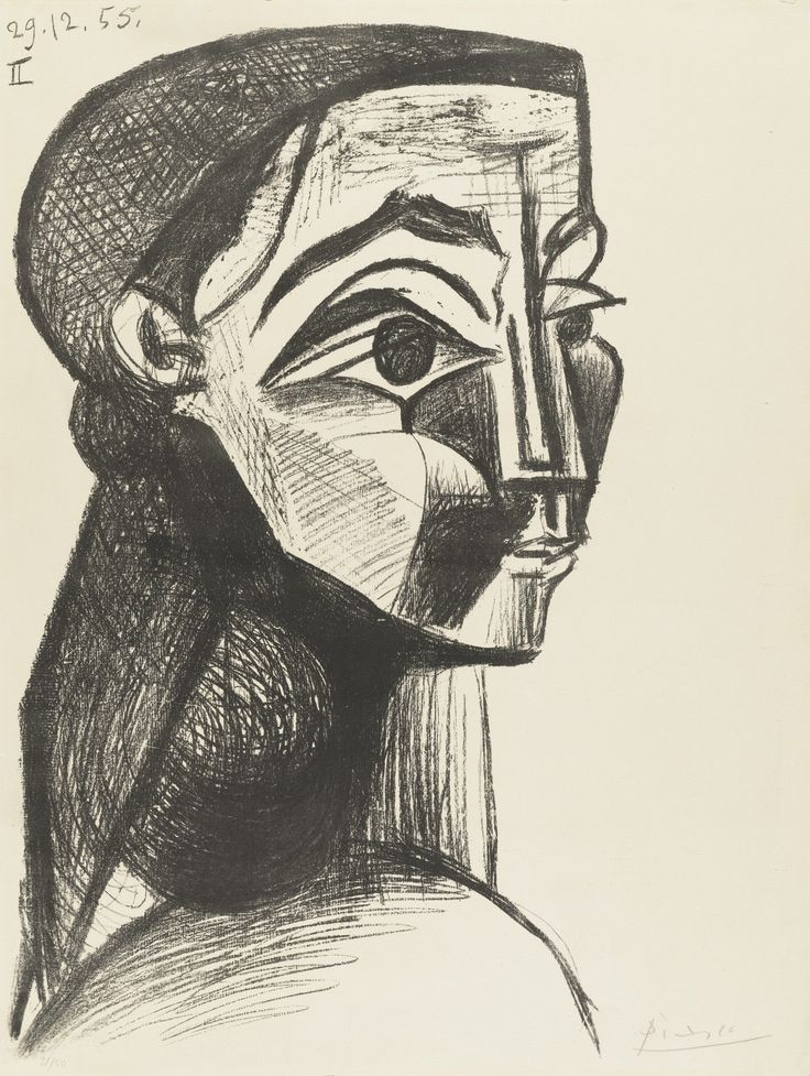 Picasso met Jacqueline Roque in 1953, when she worked in a sales position for the pottery studio where he made ceramics in the South of France. She was twenty-seven when they met; he was seventy-two. Roque moved in with Picasso in 1954; the couple married in 1961. They remained together until the artist's death, in 1973, a relationship that for Picasso endured far longer than any other.