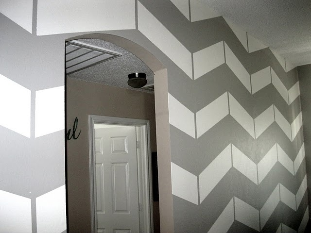 Chevron painted wall tutorial