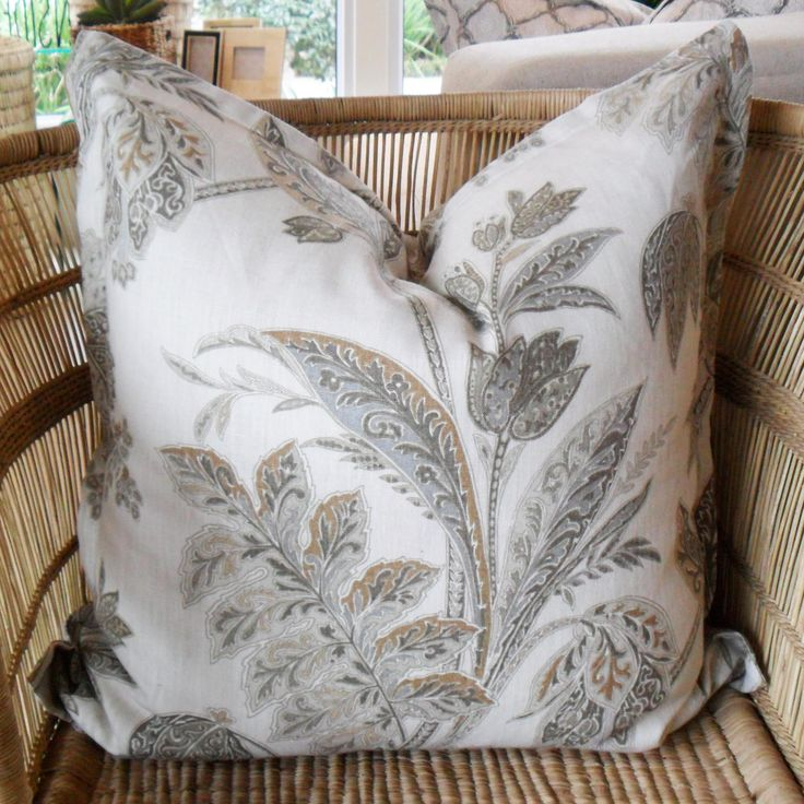 White Floral - 60cm x 60cm - Inside Out Home Boutique - Available for order online at http://inside-out-home-boutique.myshopify.com/collections/scatter-cushions/products/white-floral-scatter-cushion