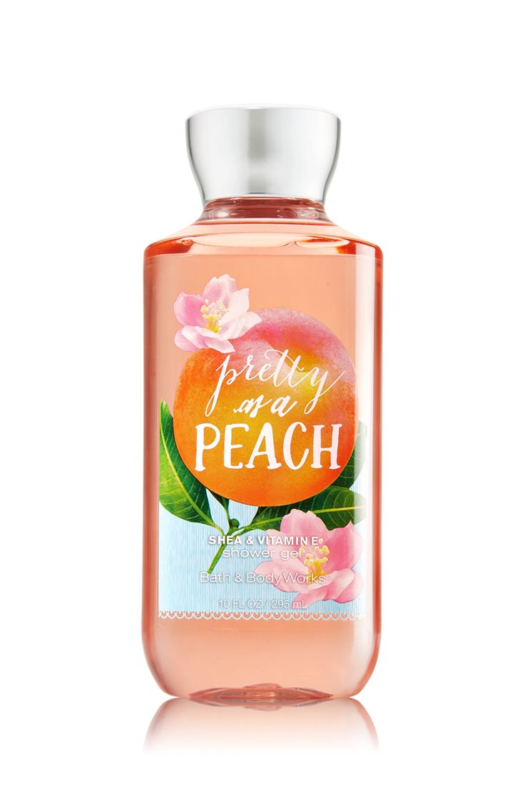 Pretty as a Peach Shower Gel - Bath & Body Works. This shower gel gets the job done but i wish it was a little more fragrant. 3 out of 5 for me.