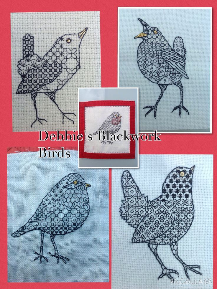 Blackwork birds 2014