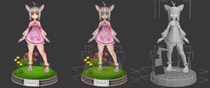 3D lowpolygon character by YEONDA.deviantart.com on @deviantART