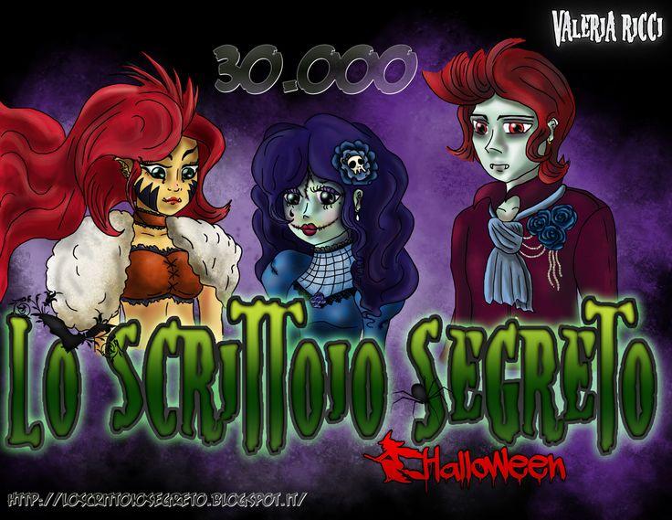 Disegno commemorativo di Halloween per i 30.000 visitatori