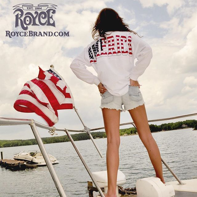 Royce Brand - America - American Flag - Women and Men's Apparel - T-shirts - Sweeper Spirit Jersey - Memorial Day - July 4th