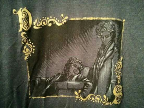 Victorian solstice hand painted t-shirt second subject dettaglio